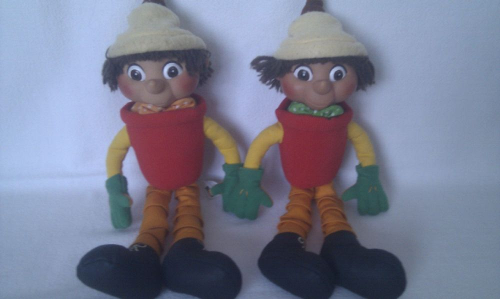 Adorable Rare Big Set Of Bill Amp Ben Flowerpot Men Plush Toys
